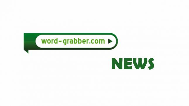 Logo of word grabber with news