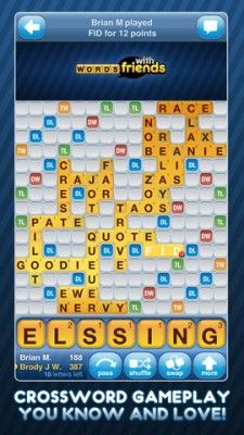 The contender - Words with friends