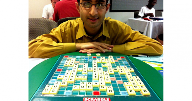 Shan Abbasi at the Toronto International Scrabble Open Quackle