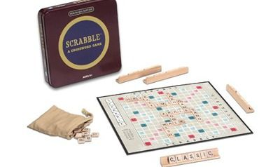 Nostalgia Tin Scrabble Game