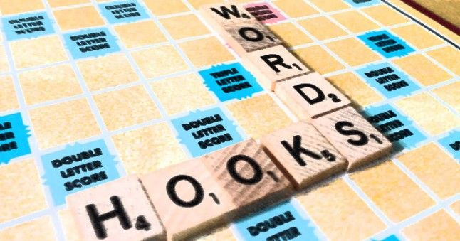 They are very important to get better at Scrabble: Hook words.