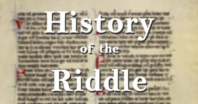 history of the riddle