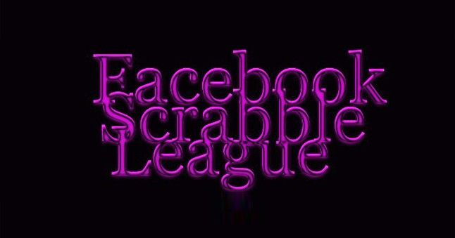 The Facebook Scrabble League