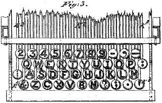 A QWERTY keyboard layout of the year 1878