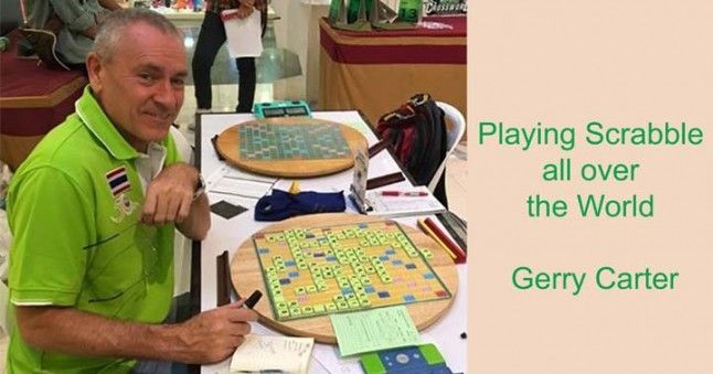 Gerry Carter playing scrabble