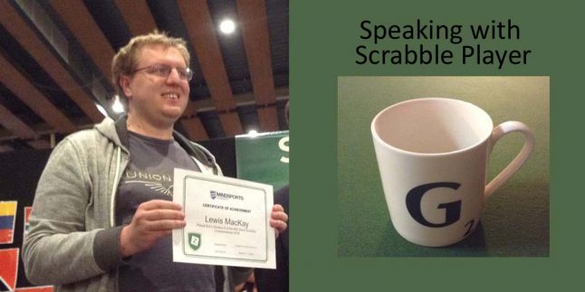 Gerry Carter Interview with Scrabble Player Lewis Mackay
