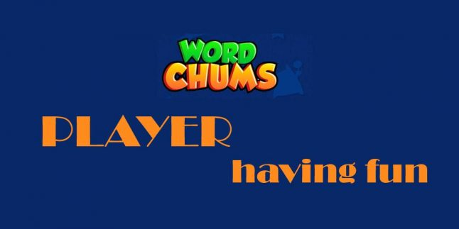 word chums player having fun with a cute word game