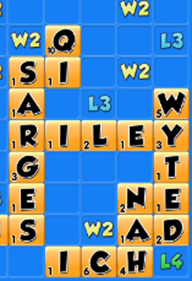 score high in word chums with two letter words