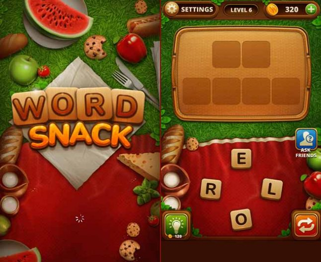 setting of word snack