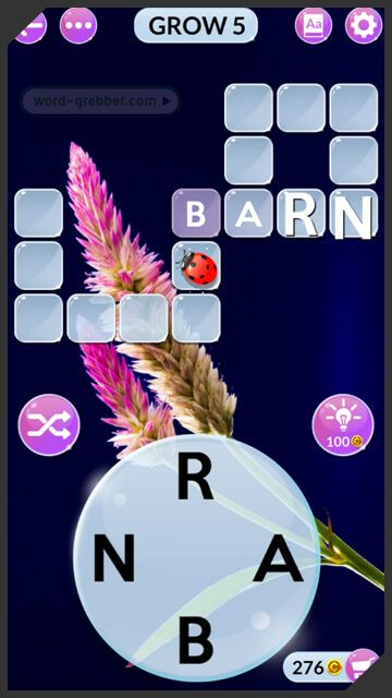 The Lady Bug in Wordscapes in Bloom