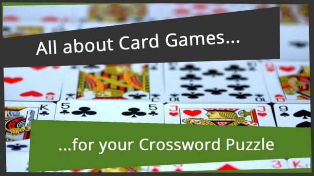 crossword game extraneous card clue gambling