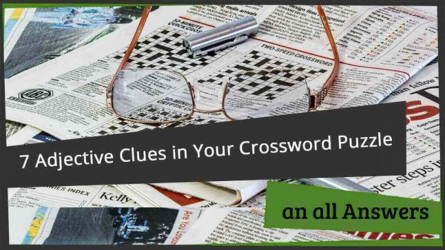 crossword clue adjectives