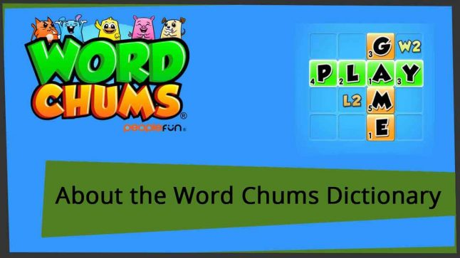 about word chums dictionary