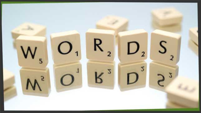 letters words