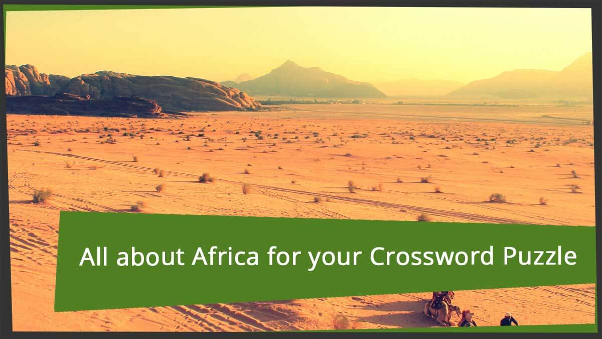 crossword puzzle in africa