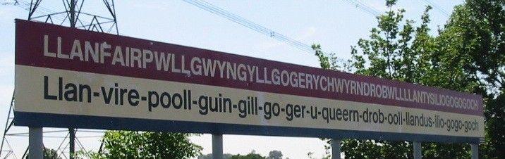 station sign of Llanfairpwllgwyngyllgogerychwyrndrobwllllantysiliogogogoch